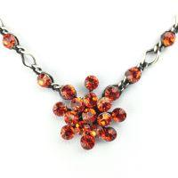 Vorschau: Konplott Magic Fireball Halskette steinbesetzt mit Anhänger in hyacinth, orange/rot 5450527640350
