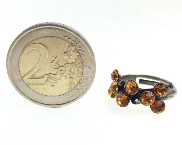 Konplott Magic Fireball 8 Stein Ring in topaz, gelb/braun 5450527640565