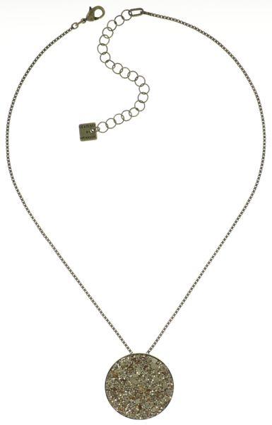 Konplott Studio 54 Halskette mit Anhänger groß in beige 5450543684130