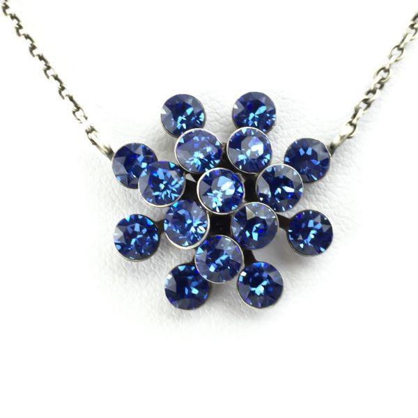Magic Fireball Halskette mit Anhänger in sapphire