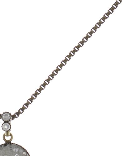Konplott Studio 54 Halskette lang mit Anhänger in cremeweiß Messing 5450543748948