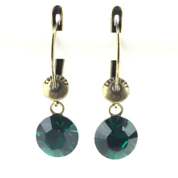 """""""Black Jack"""" Ohrhänger mit längl. Verschluss in emerald"""