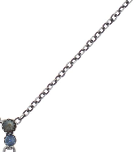 Konplott Water Cascade Halskette mit Anhänger in blau/braun 5450543753874