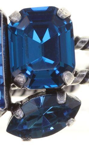 Konplott Mix the Rocks Ring in crystal blau 5450543790237