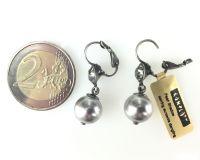 Vorschau: Konplott Pearl Shadow black diamond Perlen Ohrhänger mit Klappverschluss 5450527598859