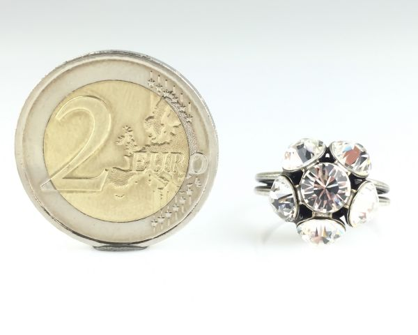 Konplott Disco Balls crystal Ring mit 1 Kugel 5450527597036