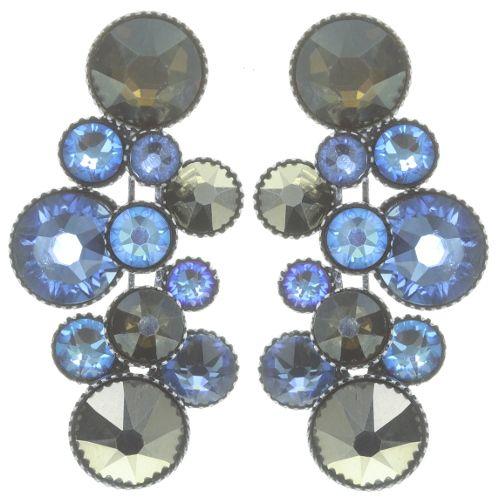 Konplott Water Cascade Ohrhänger in blau/braun 5450543753911