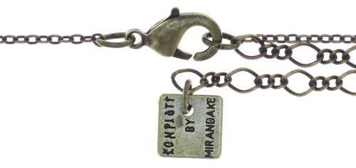 Konplott Petit Glamour Halskette mit Anhänger in dunkelblau 5450543760056