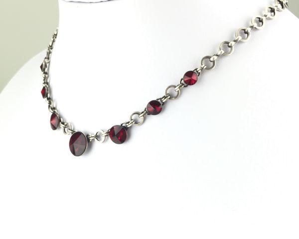 Konplott Rivoli rote Halskette partiell steinbesetzt 5450527612807