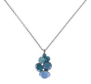 Konplott Petit Glamour Halskette mit Anhänger in blau/grün 5450543728261