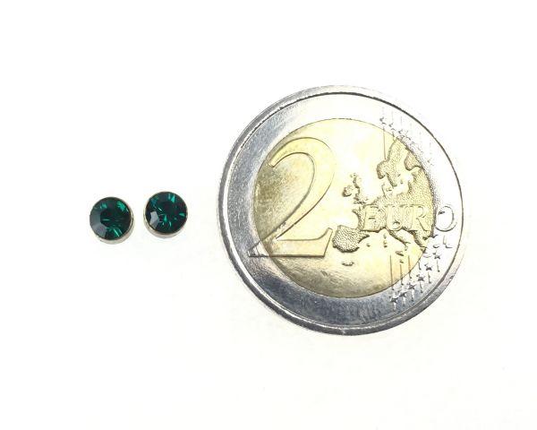 Konplott Black Jack Ohrstecker klein in Emerald, dunkelgrün 5450527266635