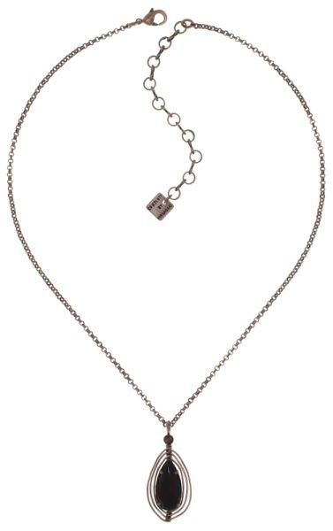 Konplott Amazonia Halskette mit Anhänger in braun, Größe S 5450543760735