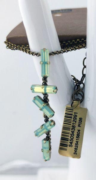 Konplott Jumping Baguette Halskette mit Anhänger in Opal Green 5450543812991