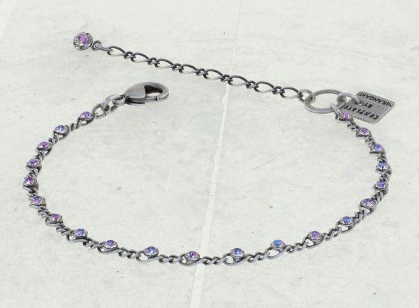 Konplott Magic Fireball Armband in white/light rose crystal vitrail light mini 5450543915111