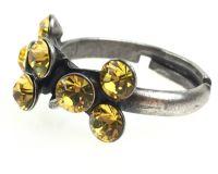 Vorschau: Konplott Magic Fireball 8 Stein Ring in light topaz, gelb 5450527640640