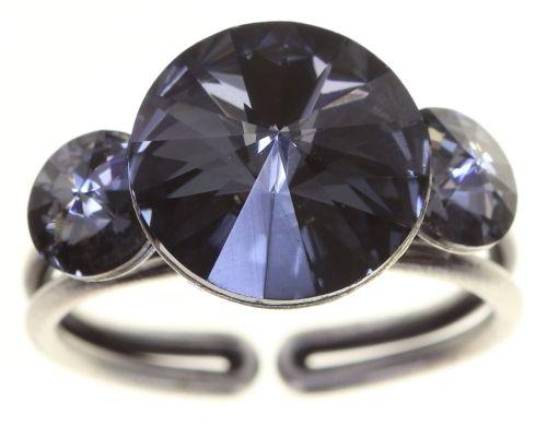 Konplott Rivoli Ring in grau crystal night fall 5450543784946