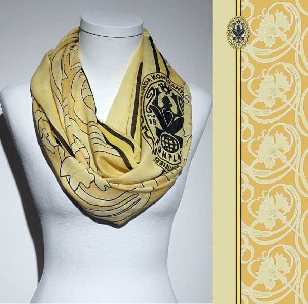 Konplott Schal Floral 12 in gelb 5450543807003