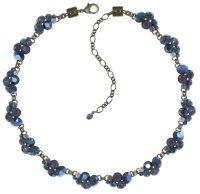 Vorschau: Konplott Petit Glamour steinbesetzte Halskette in dunkelblau 5450543760049