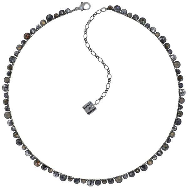 Konplott Water Cascade Halskette in Silver Carbon schwarz 5450543907659