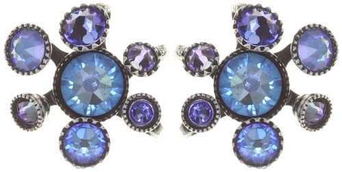 Konplott Alien Caviar Ohrring Caviar Blue *Neu: Fassung aus Titan 5450543883458