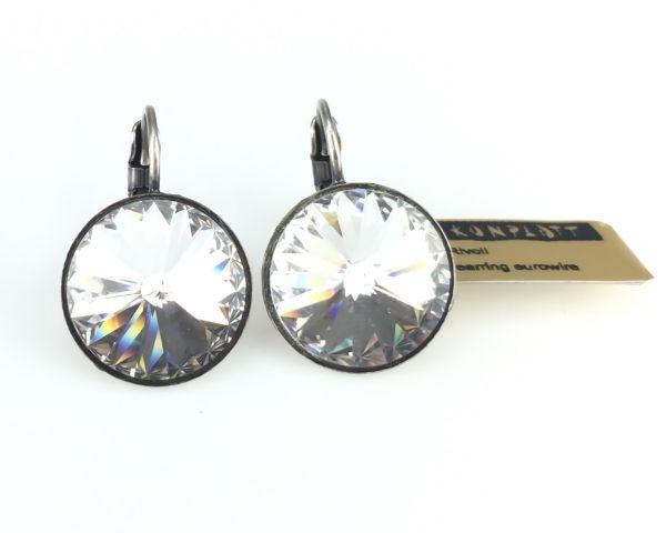 Konplott Rivoli crystal weiße Ohrhänger mit Klappverschluss 5450527495370