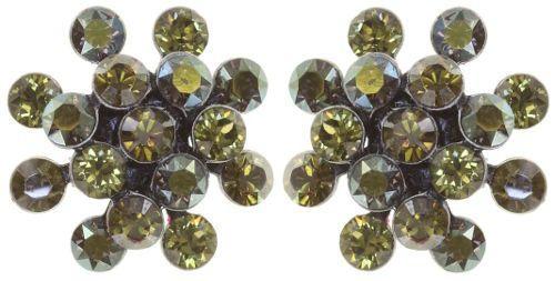Konplott Magic Fireball Mini Ohrring Ohrstecker in Olivgrün *Neu: Fassung aus Titan 5450543892702