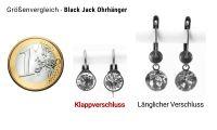 Vorschau: Konplott Black Jack Ohrhänger mit Klappverschluss in Sapphire 5450527130806