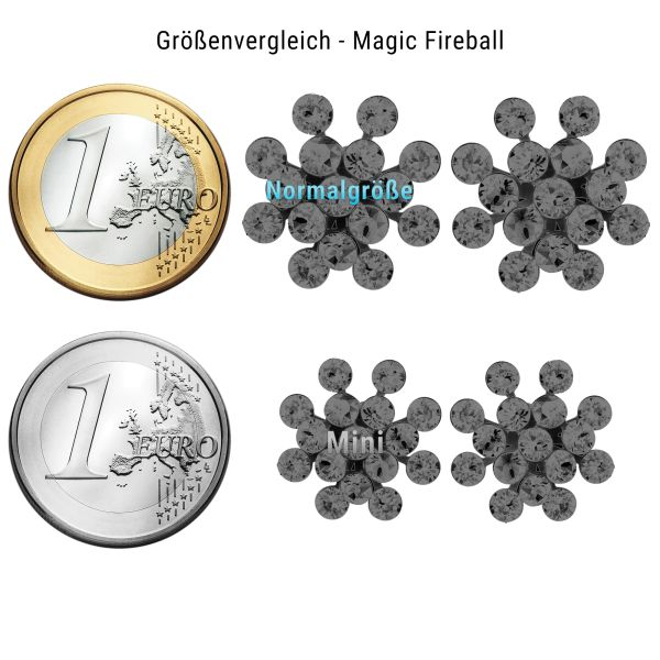 Konplott Magic Fireball Ohrstecker klassisch Traube in light grey opal 5450527767408
