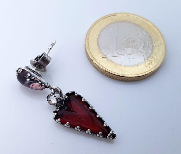 Konplott Snow White Ohrstecker in rot Größe S 5450543757728