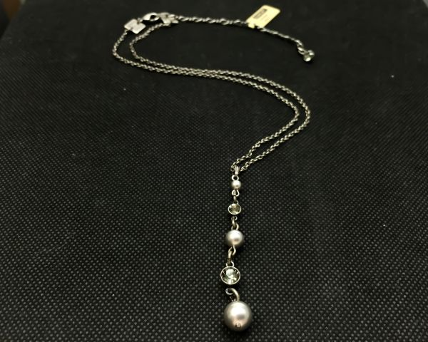 Konplott Pearl Shadow black diamond Halskette in Y-Form 5450527506038