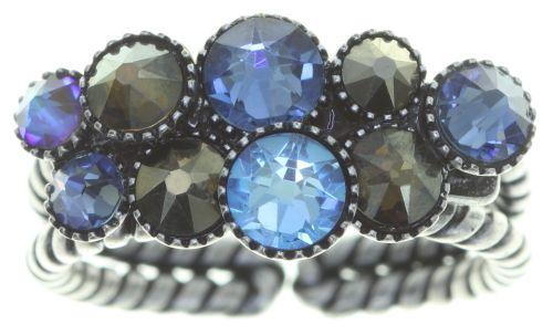 Konplott Water Cascade Ring in blau/braun 5450543753935