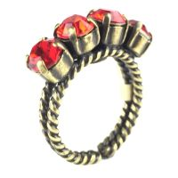 Konplott Colour Snake Ring in Light Siam, hellrot 5450527129121
