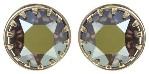 Konplott Boho Twist Ohrstecker in crystal iridescent grün 5450543771991
