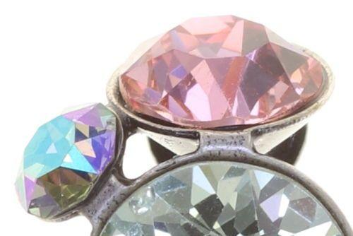 Konplott Petit Glamour Ohrclips in pastel sorbet (Großer Stein schimmert Grün) 5450543854809