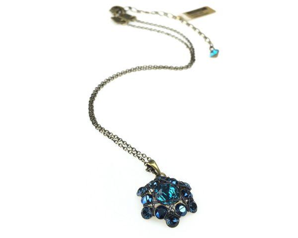 Konplott Bended Lights Halskette mit Anhänger in Blau 5450527758857
