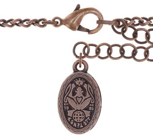 Konplott Tears of Joy steinbesetzte Halskette in coralline scarlet rot 5450543763545