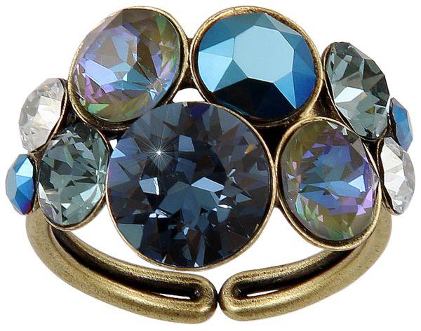 Petit Glamour Ring in dunkelblau