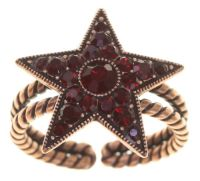 Konplott Dancing Star Ring in rot Größe M 5450543774671