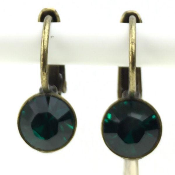 Black Jack Ohrhänger mit Klappverschluss in Emerald, dunkelgrün