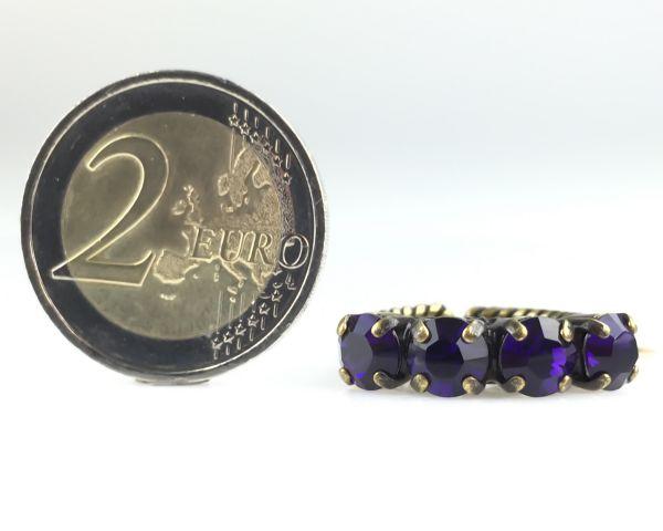 Konplott Colour Snake Ring in Purple Velvet, dunkellila 5450527552806