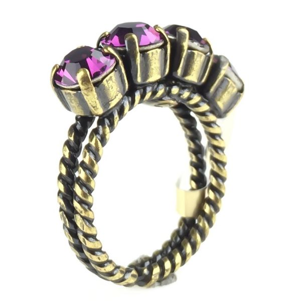 Colour Snake Ring in Amethyst, pink/lila