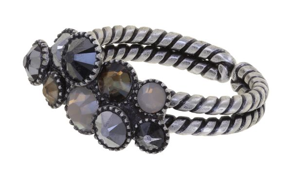 Konplott Water Cascade Ring in Silver Carbon schwarz 5450543907642