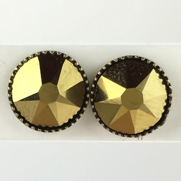 Konplott Black Jack Ohrstecker groß in beige crystal dorado, gold 5450527955027