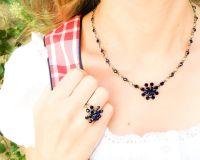 Vorschau: Konplott Magic Fireball Halskette steinbesetzt mit Anhänger in dark indigo, dunnkelblau 5450527611763