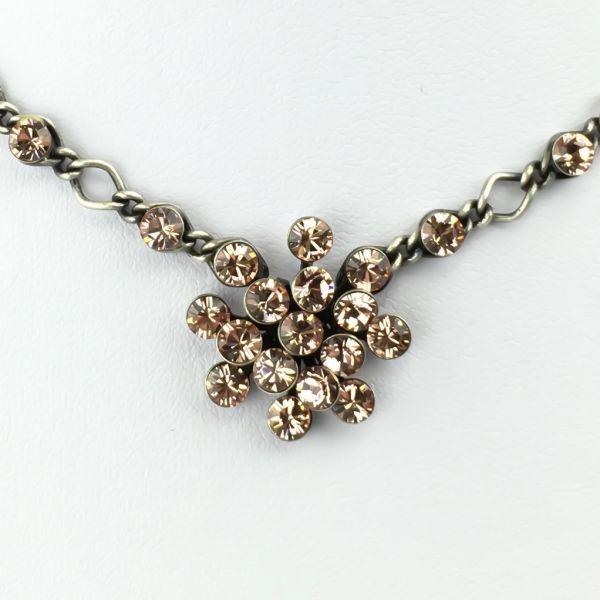 Konplott Magic Fireball Halskette steinbesetzt mit Anhänger in vintage rose 5450527611923
