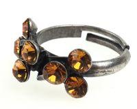 Vorschau: Konplott Magic Fireball 8 Stein Ring in topaz, gelb/braun 5450527640565