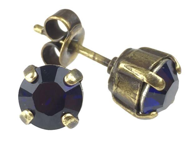 Konplott Black Jack Ohrstecker klassisch eckig in dark indigo 5450527641654