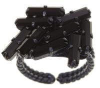 Vorschau: Konplott Jumping Baguette Ring Deepest Black 5450543861364