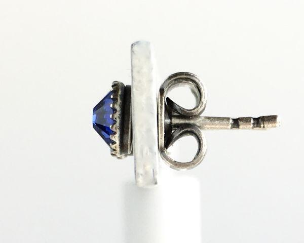 Konplott Black Jack Ohrstecker klassisch rund klein in blue sapphire 5450527601115