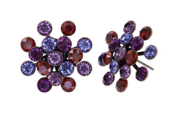 Konplott Magic Fireball Ohrstecker Ruby Violet in Classic Size 5450543936604